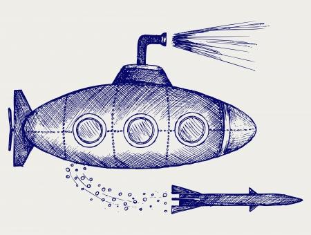 잠수함. 낙서 스타일
