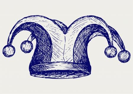tonto: Jester sombrero. Estilo Doodle