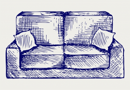 Furniture. Doodle style Vector