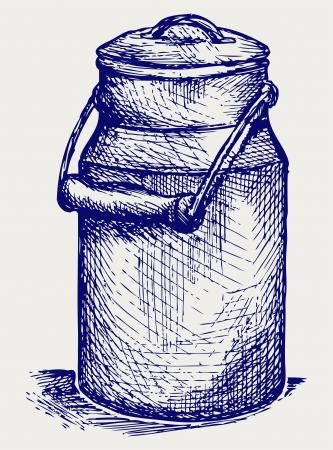 Aluminium can. Doodle style Stock Vector - 18162593