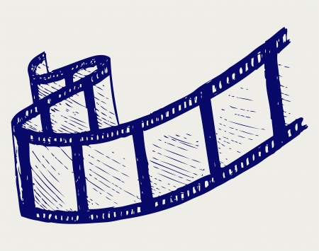 film industry: Film strip. Doodle style. Vector EPS 8