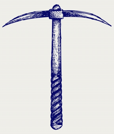 pick axe: Pickaxe. Doodle style Illustration