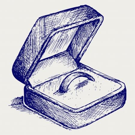 Jewelry box. Doodle style Stock Vector - 18262300