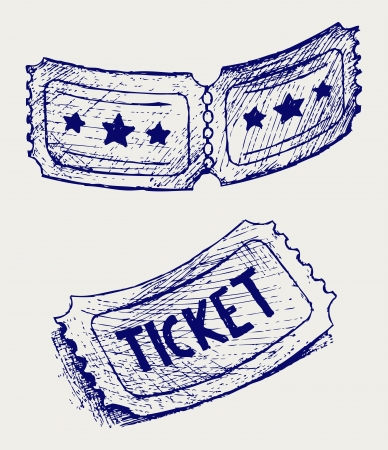 Ticket. Doodle style Stock Vector - 18262295