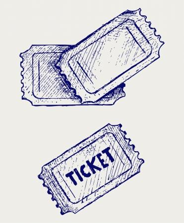 teatro antiguo: Venta de entradas. Estilo Doodle