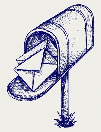 Mailbox. Doodle style