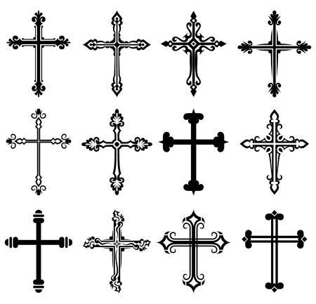 cruz religiosa: Colección de diseño de la cruz religiosa