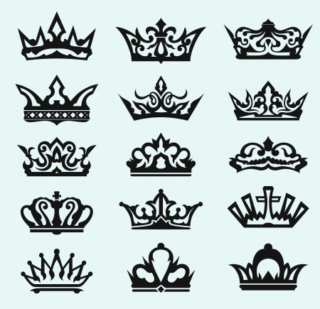 king edward: Crown collection. Vector