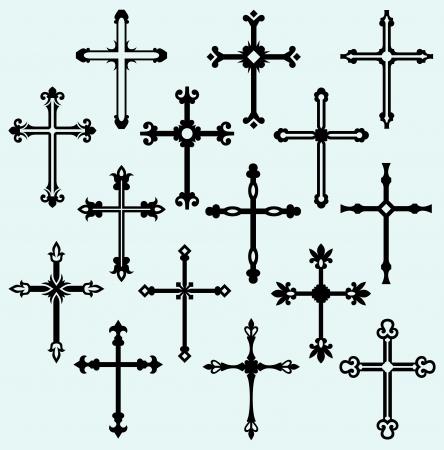 religious cross: Religious cross design collection Illustration