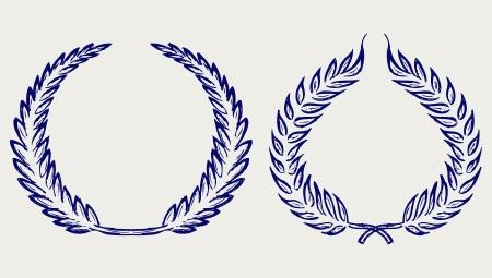 Vector laurel wreath. Doodle style Stock Vector - 18354419