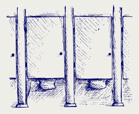 stall: Public Toilet. Doodle style