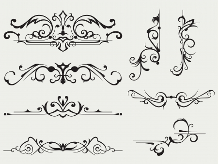 baroque background: Calligraphic design element and page decoration