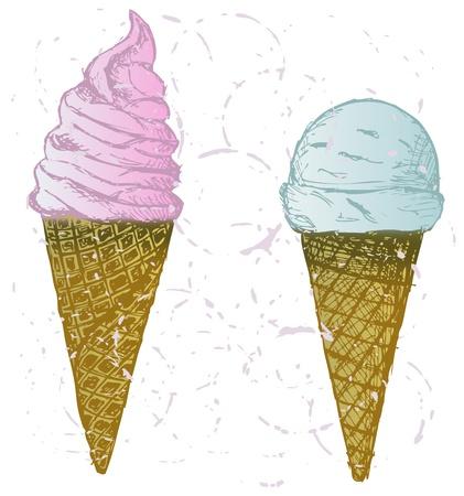 soft serve: Soft serve ice. Grunge style