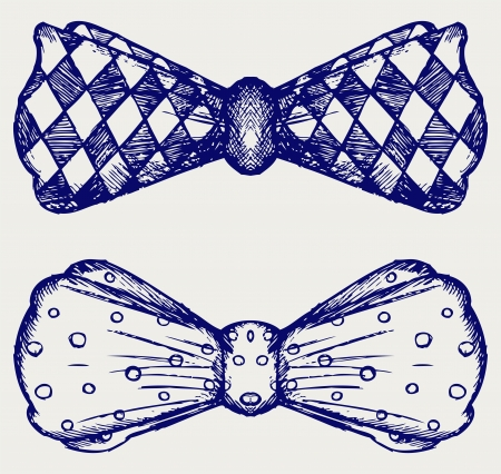 noeud papillon: Bow-tie. Doodle style Illustration