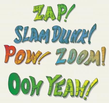 zap: Sound effects. Doodle style Illustration