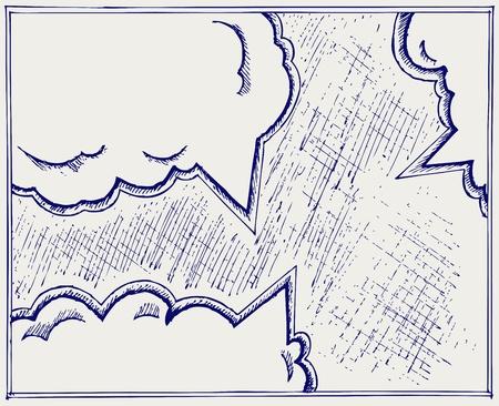Speech bubbles. Doodle style Vector