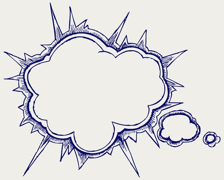 free thought: Speech bubbles. Doodle style
