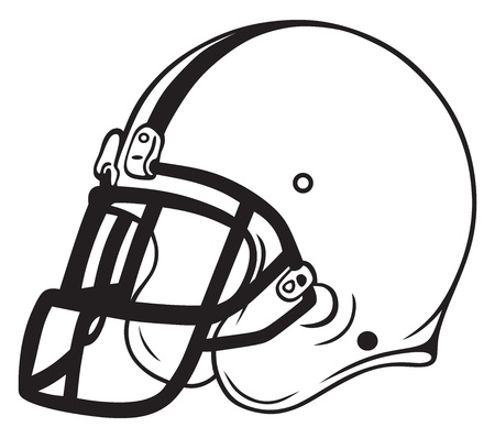 白い背景で隔離のヘルメット サッカー