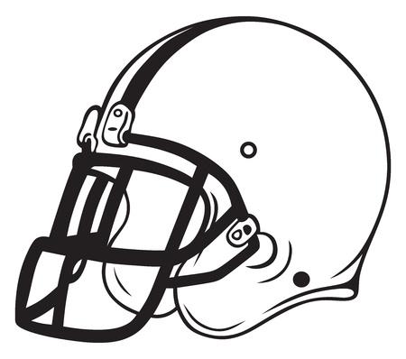 흰색 배경에 고립 된 헬멧 축구