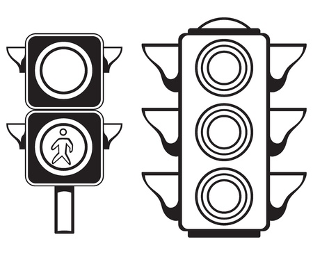semaforo peatonal: Sem?foro aislado en el fondo blanco