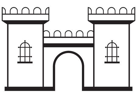 Icon castle isolated on white background Vector