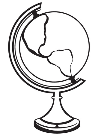 Globe isolated on white background Stock Vector - 20543908