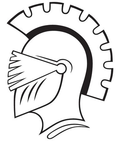 Helmet icon isolated on white background Stock Vector - 20543940