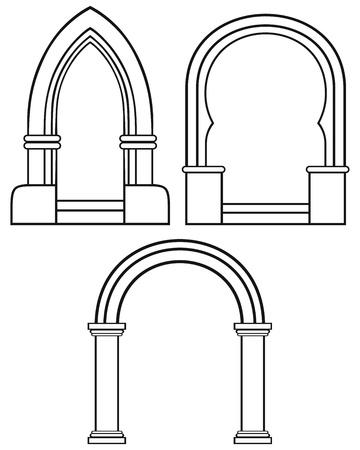 Silhouette classic arch Stock Vector - 20543939