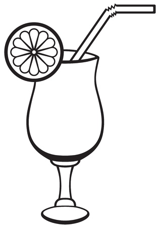 Symbol cocktail isolated on white Vector
