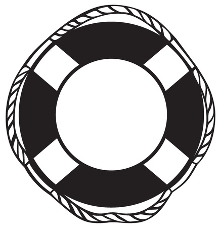rescue circle: Symbol lifebuoy isolated on white Illustration