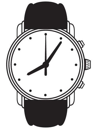Symbool horloge geïsoleerd op wit