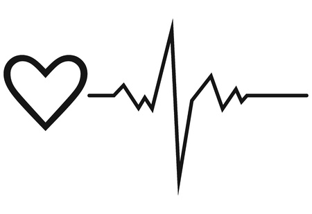 heart rate: Life line  Symbol heart Illustration