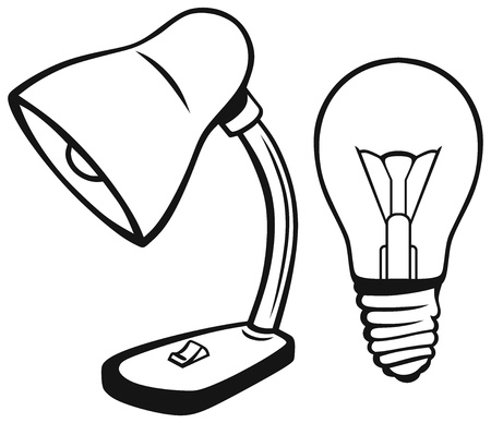 Desk lamp isolated on white background Stock Vector - 20543956