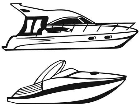 yacht isolated: Yate de lujo aislado en el fondo blanco
