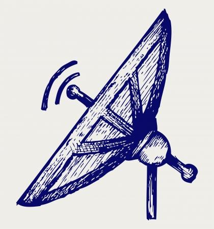 Radar  Doodle style Vector