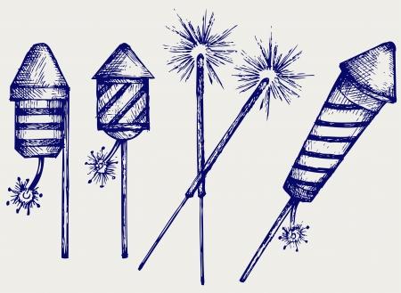 jahreswechsel: Fireworks  Doodle style