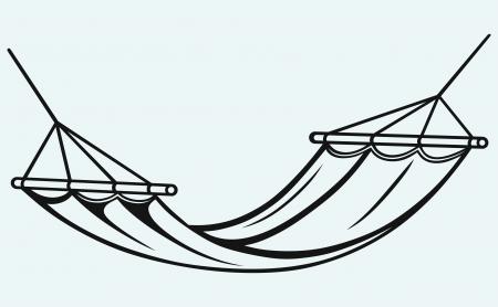 hammock: Hamaca aisladas sobre fondo azul