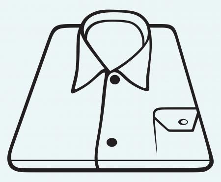 drycleaning: Folded shirt isolated on blue background