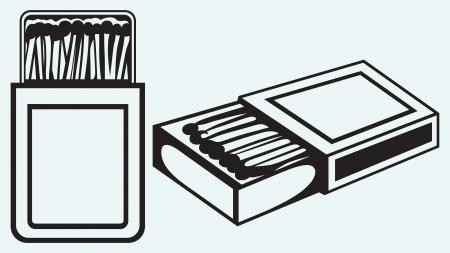 caja de cerillas: Seguridad coincide en el rect�ngulo aislado en el fondo azul