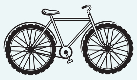 tricycle: Illustration bicycle isolated on blue background
