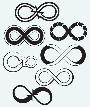 infinito simbolo: S�mbolo del infinito sobre fondo azul