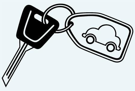 keyholder: Key chain  Image isolated on blue background