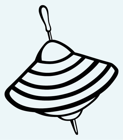 Immagine Whirligig isolato su sfondo blu