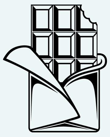 Tafel clipart schwarz weiß  Tafel Schokolade Lizenzfreie Vektorgrafiken Kaufen: 123RF
