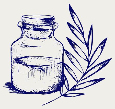 fragrance: Geurolie Doodle stijl Stock Illustratie