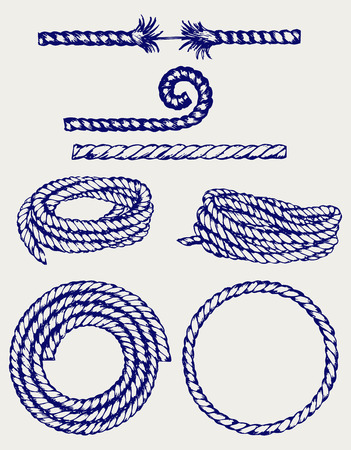 Nautical rope knots  Doodle style