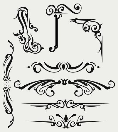 Calligraphic Design-Element und Dekoration Seite Standard-Bild - 26135637