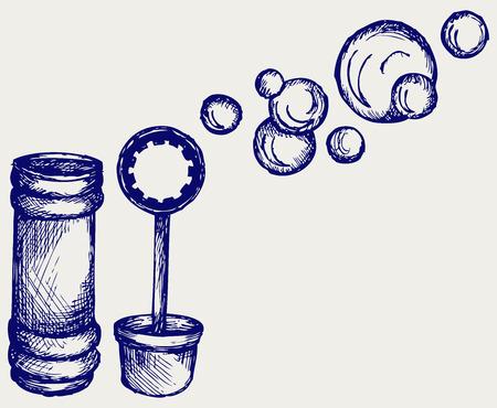 transparence: Soap bubbles  Doodle style