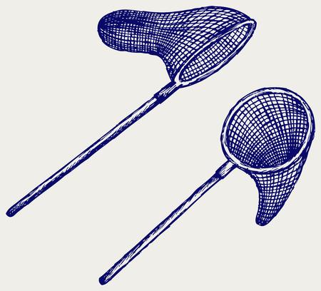 redes pesca: Pesca estilo neta Doodle