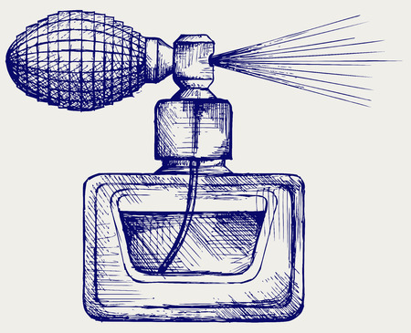Estilo de la botella de perfume del Doodle